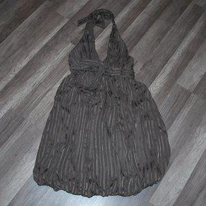 BCBG MAXAZRIA Halter Bubble Silk Dress Sz  4